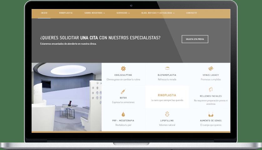 diseño fluido web medicina